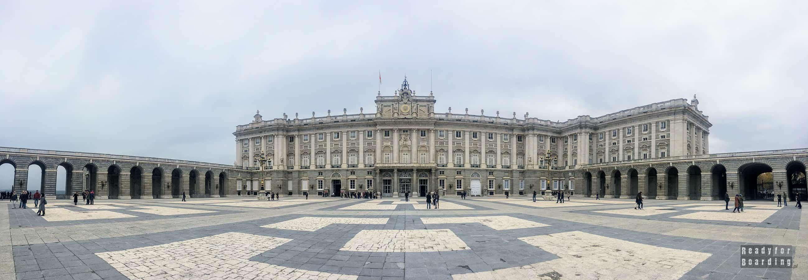 Panorama: Pałac Królewski w Madrycie