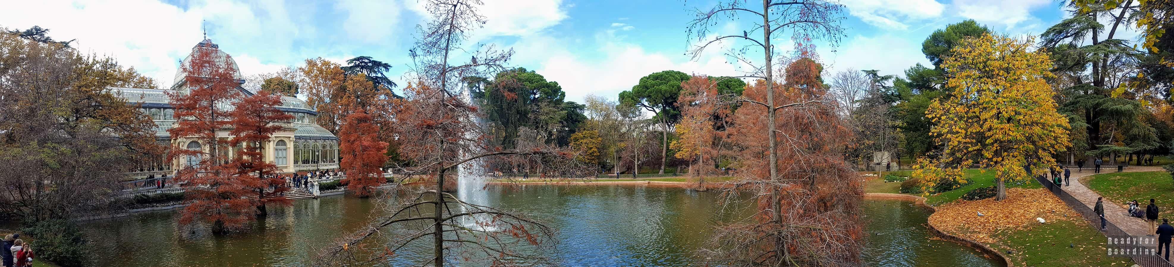 Panorama: Park Retiro, Madryt - Hiszpania