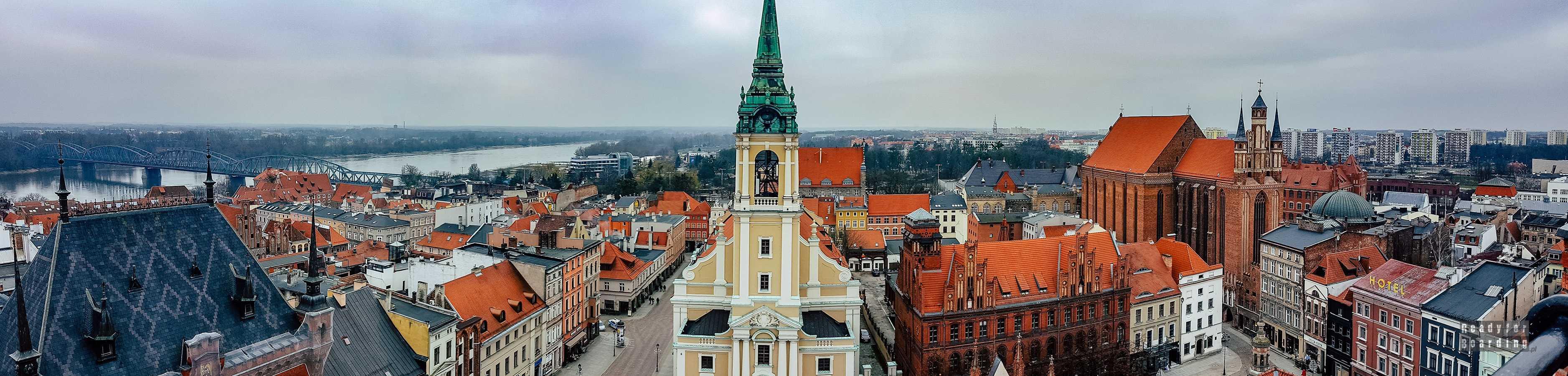 Panorama: Toruń z loty ptaka