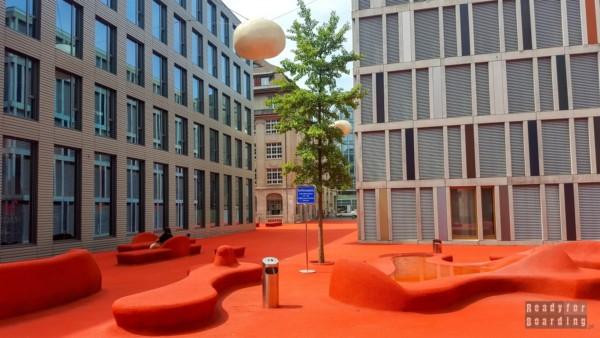 Czerwony Plac w St Gallen - Szwajcaria