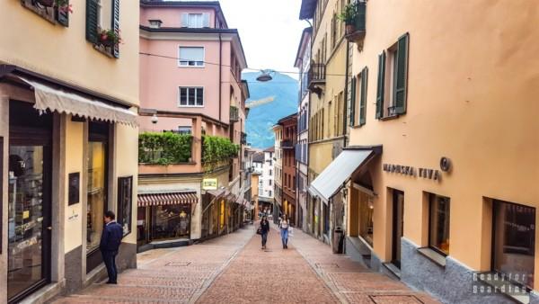 Uliczki w Lugano - Szwajcaria