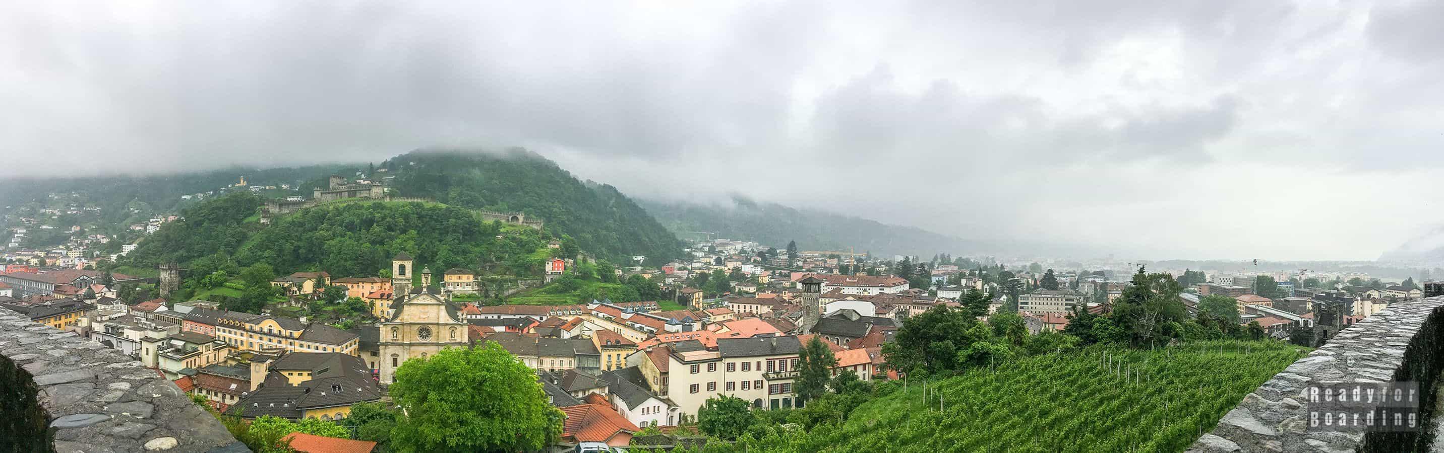 Panorama: Castelgrande, Bellinzona - Szwajcaria