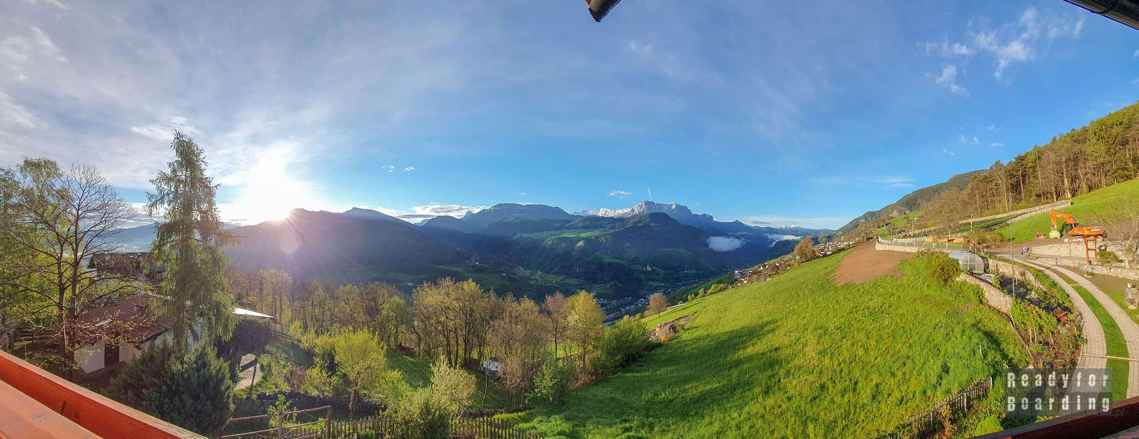 Panorama: Roter Hahn – agroturystyka w Południowym Tyrolu