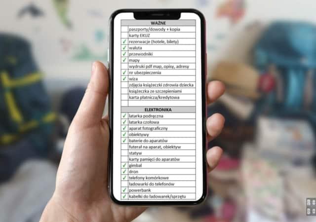 Lista rzeczy do spakowania