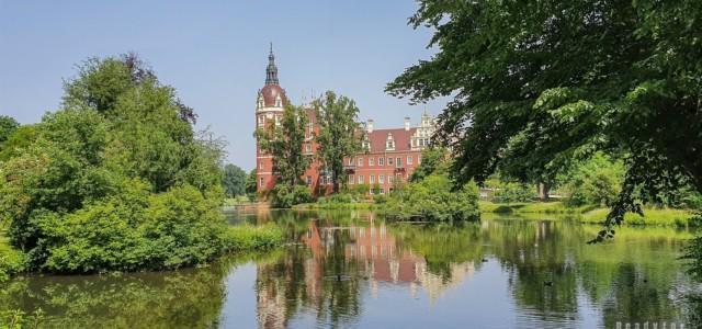 Nowy Zamek, Park księcia Pücklera, Bad Muskau - Saksonia, Niemcy