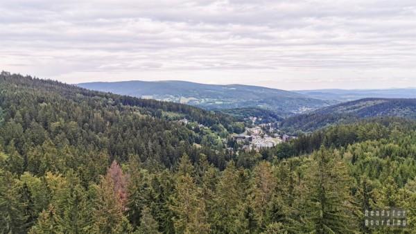 Karkonosze: Ścieżka w koronach drzew, Jańskie Łaźnie, Czechy