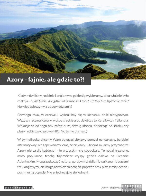 eBook: Azory – blogowe zapiski Ready for Boarding