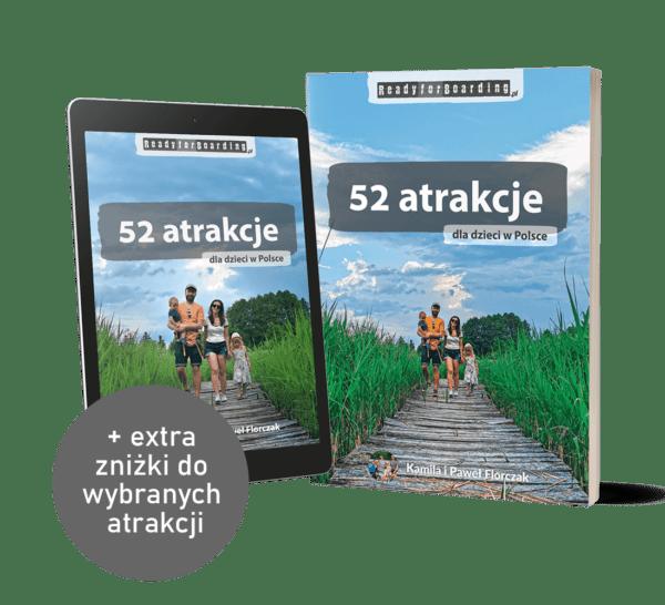 """Zestaw książka+eBook """"52 atrakcje dla dzieci w Polsce - Ready for Boarding"""""""