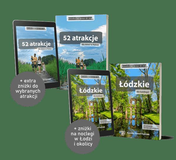 """SUPER zestaw książek+eBooków """"Łódzkie dla każdego!"""" + """"52 atrakcje dla dzieci w Polsce"""""""