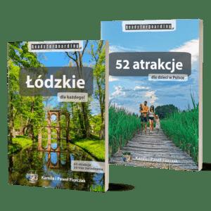 """Zestaw książek """"Łódzkie dla każdego!"""" + """"52 atrakcje dla dzieci w Polsce"""""""